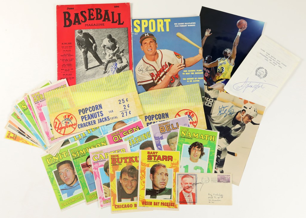 Sports and Political Autograph & Memorabilia Collection (150+)
