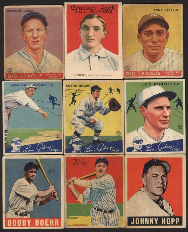 1915-52 Cracker Jack, Goudey, Leaf, Play Ball and More Collection with Hall of Famers (24)