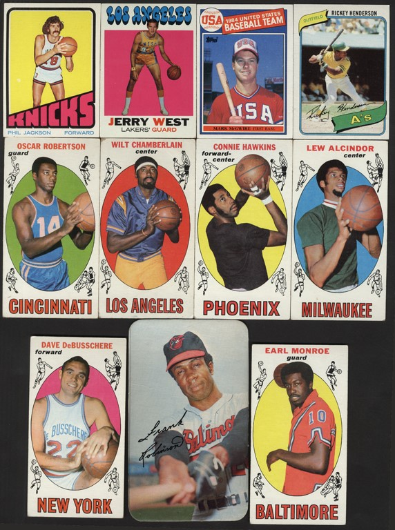 1960s-80s Topps Basketball and Baseball Collection with Lew Alcindor Rookie (185)