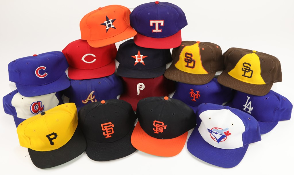 Professional Game Issued Baseball Cap Collection (16)