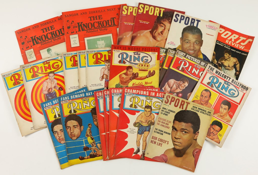 1950's-1970's Sports Magazine Collection (500)