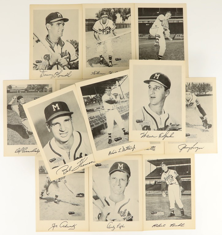 1953-1957 Spic & Span Milwaukee Braves Near Complete Set (13)