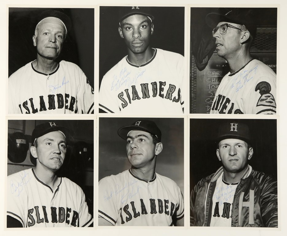 Circa 1963 Hawaiin Islanders Team Photos with Autographs (27)