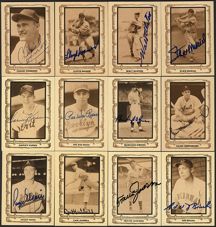 1983 Baseball Legends Card Set w/48 Signed Including Roger Maris