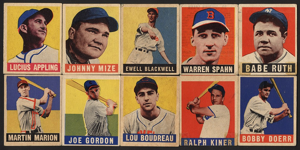 1948-49 Leaf Baseball Collection w/ Babe Ruth (41)
